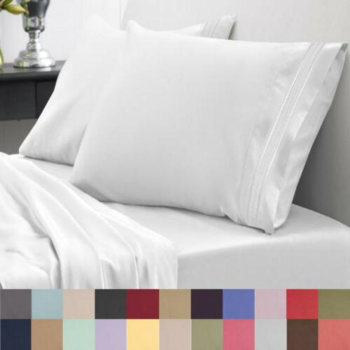 1800 series microfiber bedroom sheet set luxury