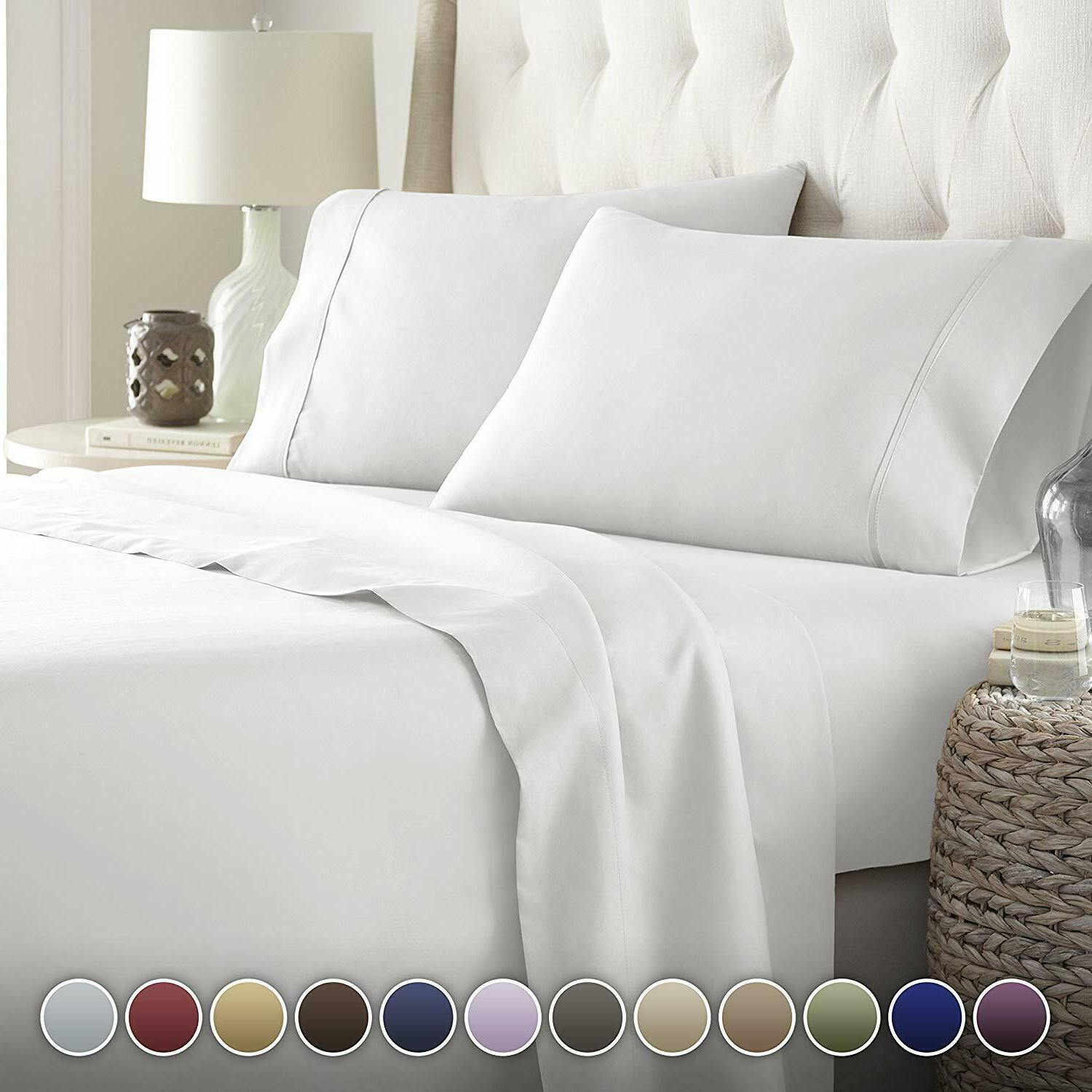 hotel luxury bed sheets set top quality
