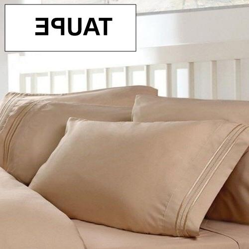 1800 Count Bed Sheet Cool Wrinkle Free. Many Colors