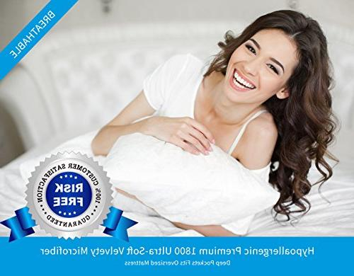 Premium Collection King Sheet Hypoallergenic, Easy Care, Resistant,