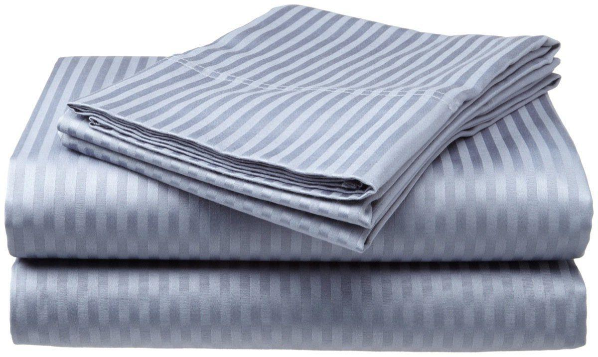 2 PACK:Deluxe Hotel , 400 Thread Cotton Dobby Stripe