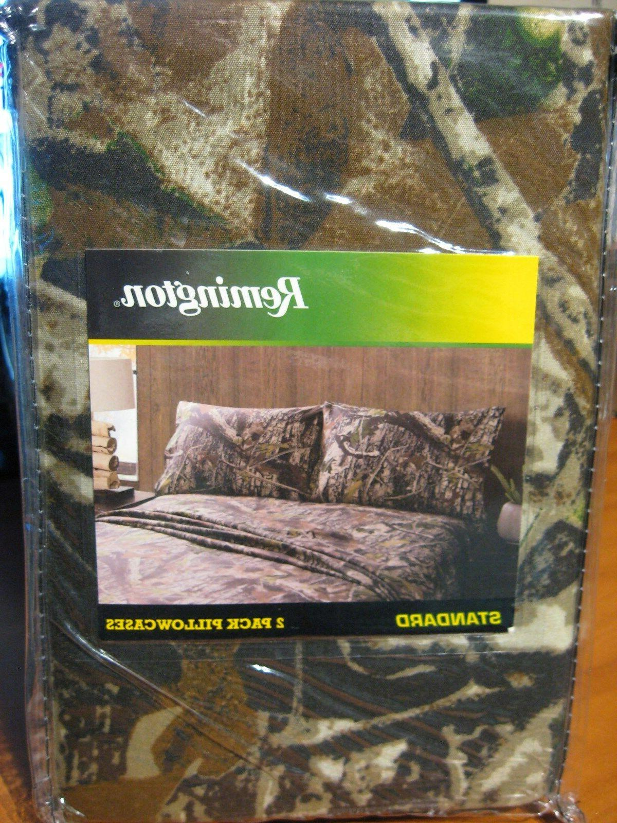 2 remington camouflage pillowcases fits standard