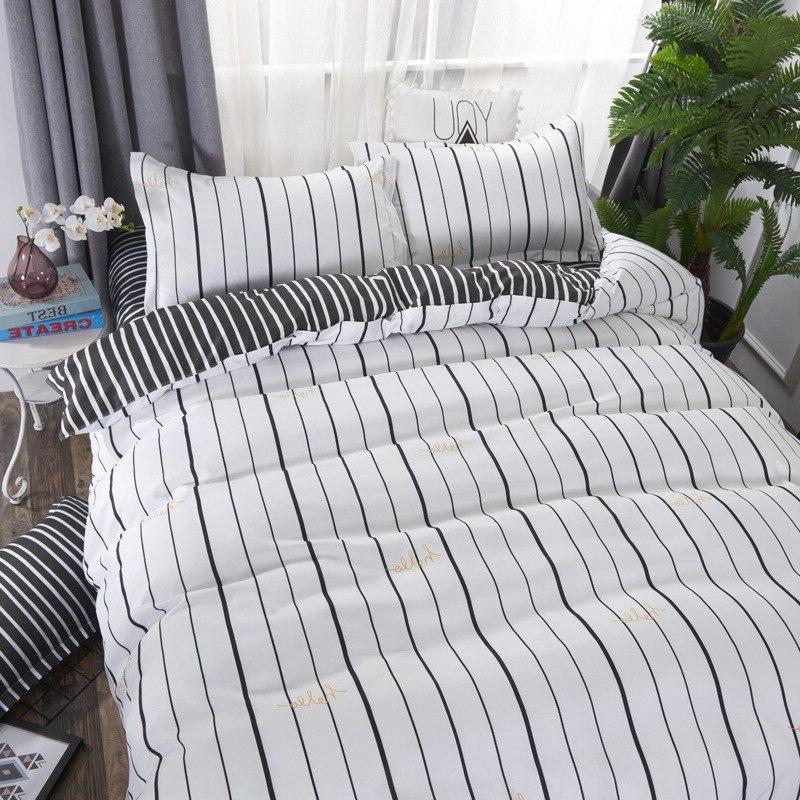 2019 <font><b>reversible</b></font> duvet cover <font><b>bed</b></font> set flat set high quality No quilt