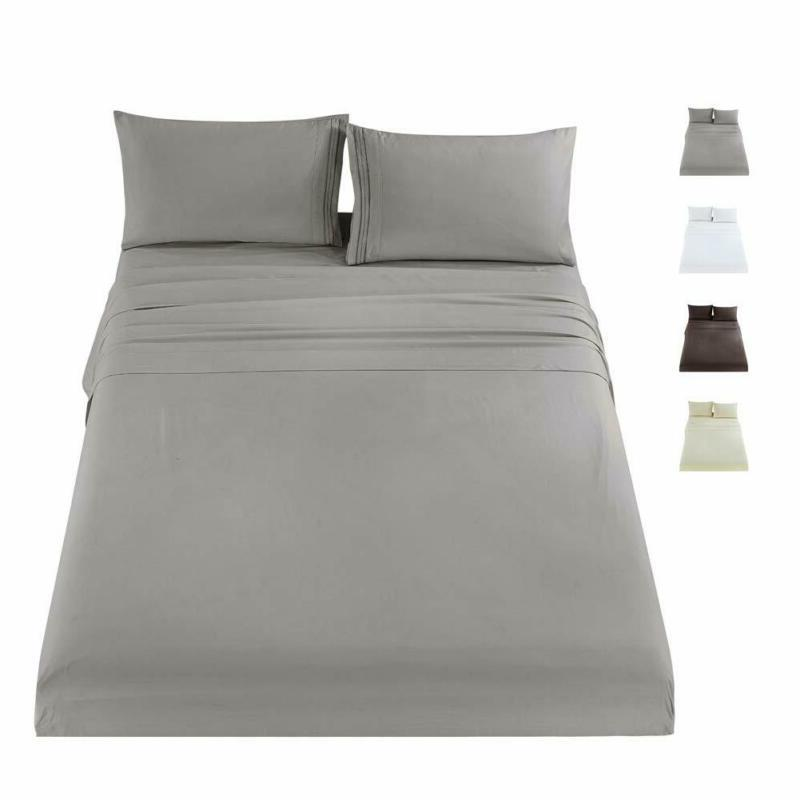 MUKKA 3 Pcs Sheets Bed Set Twin Grey, Gift for Kids, Soft an