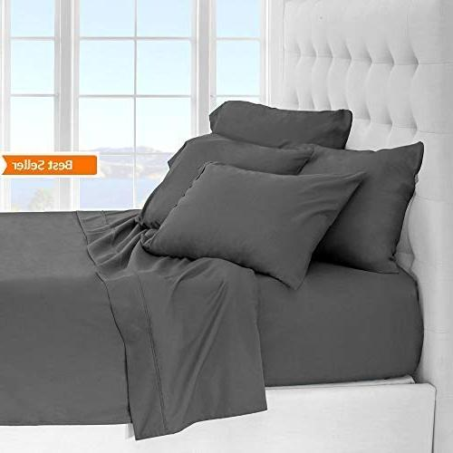 LilyLinens with Pillow Cases - Fits 18 Inches Long - Hypoallergenic Thread Count King Hotel Luxury Extra Soft
