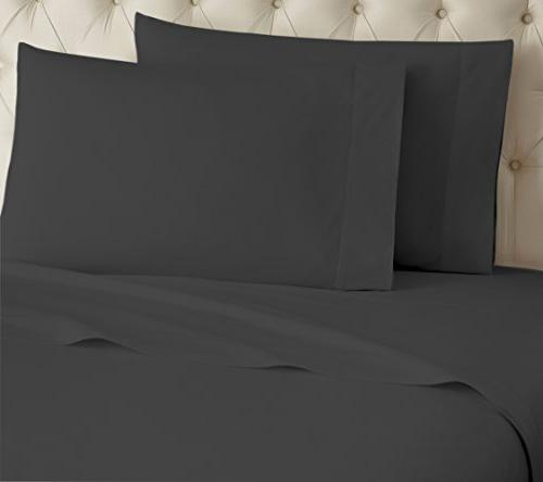 Callista Thread 100% Organic Cotton Set - King Bed Soft Sateen Luxurious and Soft - Grey