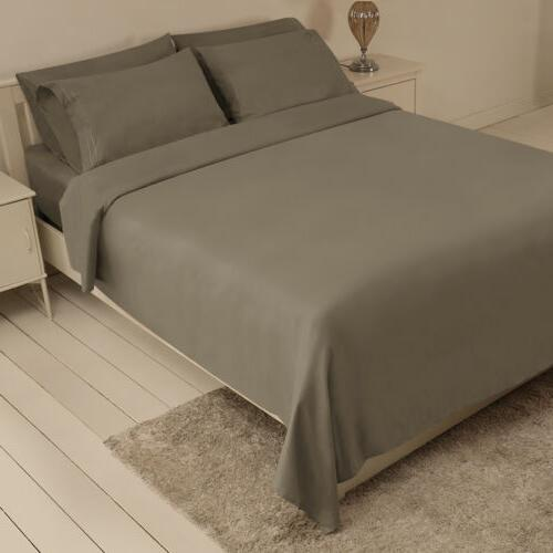 4/6Piece bed sheet set Deep Sheets King Size fitted