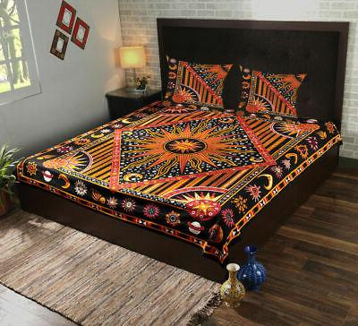 4 pcs indian mandala reversible comforter duvet