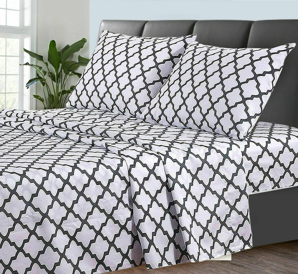 Egyptian 4 Piece Deep Set Series Bed Sheets