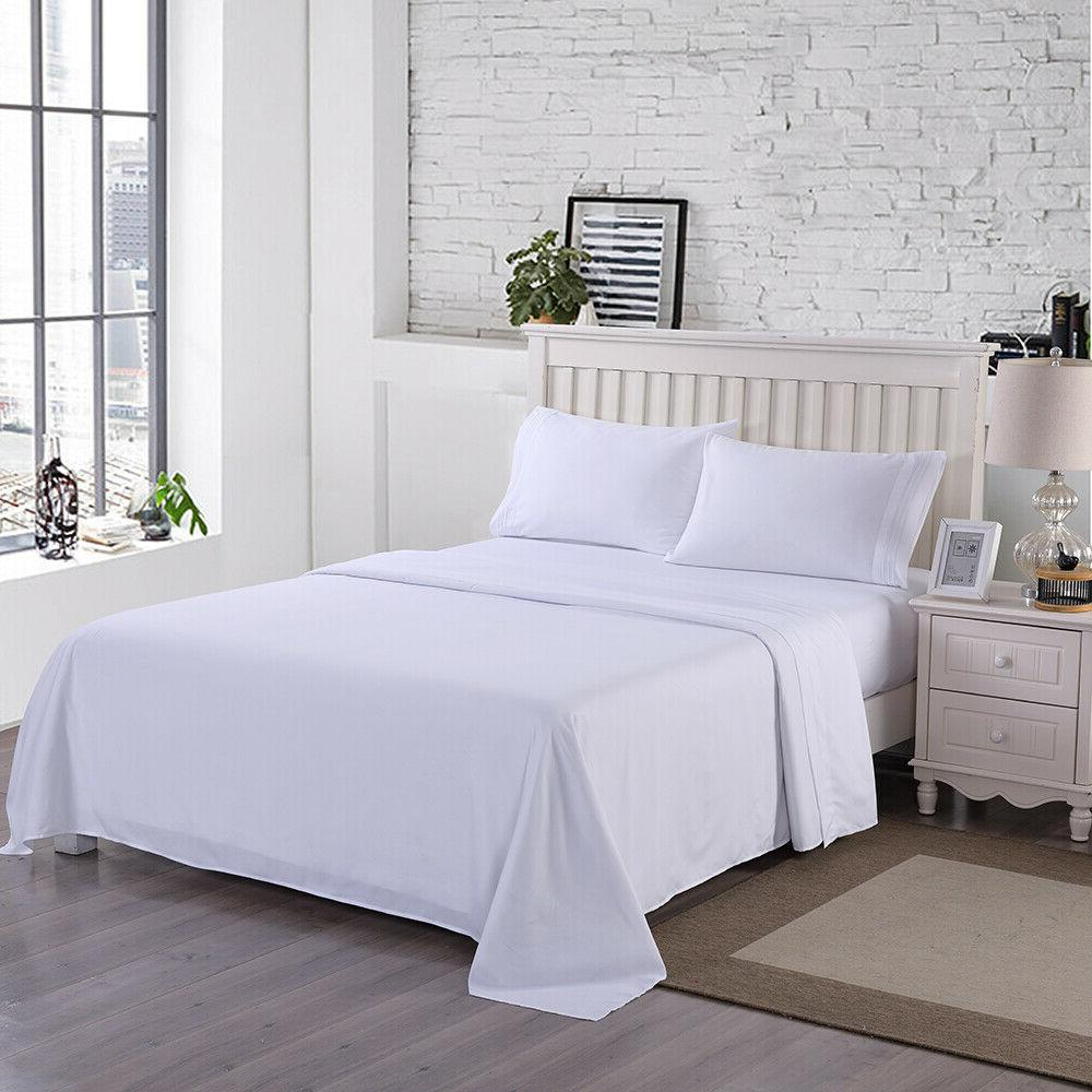 4 Fitted Sheet Set Egyptian 2200 Deep Sheets