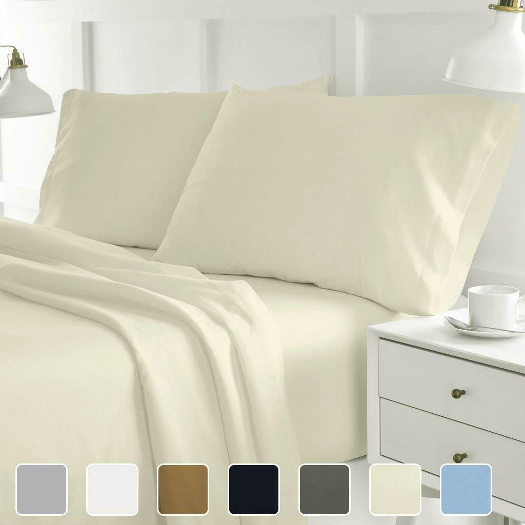 4 piece hotel luxury bed sheets wrinkle
