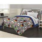 7-piece Bed In A Bag With Sheet Set Soccer Fever Bedroom Sle
