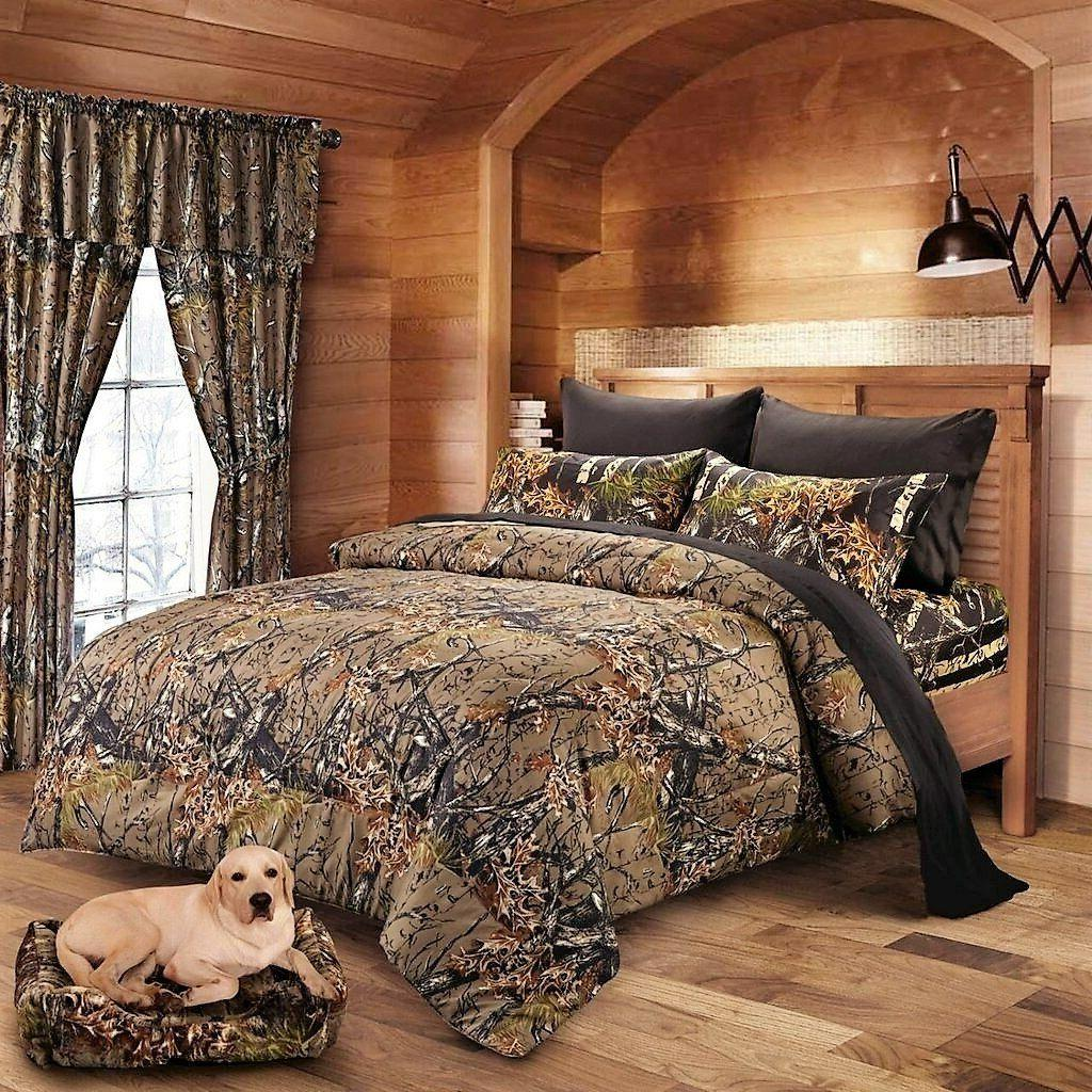 7 PC NATURAL BLACK CAMO MIX COLOR SHEETS &