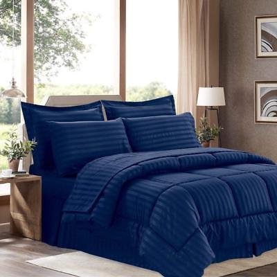 Sweet Collection 8 Piece Bed A Bag Stripe Comforter, Sheet -