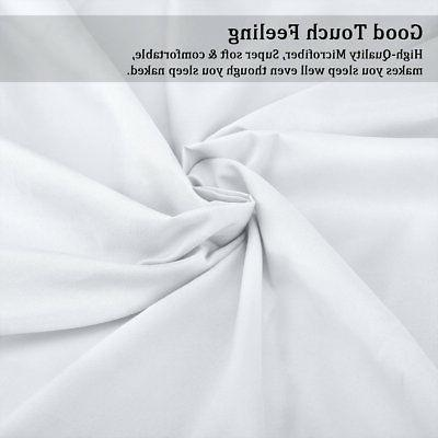 Bed % Cotton Size White Fitted Flat 4