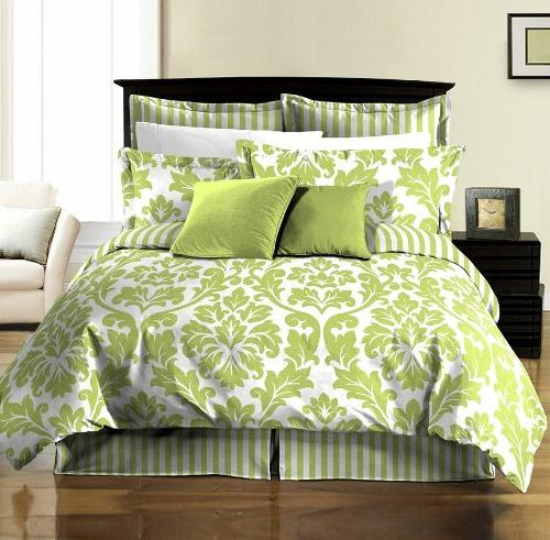 soft microfiber reversible white green