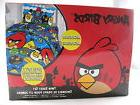 NEW, Angry Birds Twin Fitted Sheet & Pillowcase Microfiber S