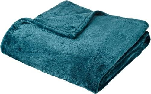 "Northpoint Cashmere Plush Velvet Throw, Teal, 50"" x 60"""