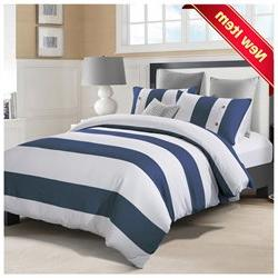 Addison Embroidered Duvet Cover Set, Premium Long-Staple Cot