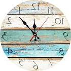 Beach Theme Clock Old Vintage Look Wall Hanging Home Decor S