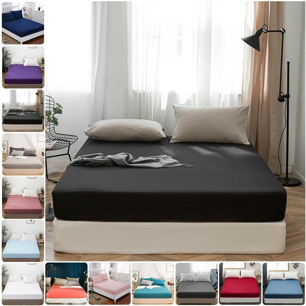 bed fitted sheet full queen deep pocket