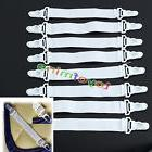 8x Bed Sheet Mattress Fasteners Elastic Grippers Blankets Cl