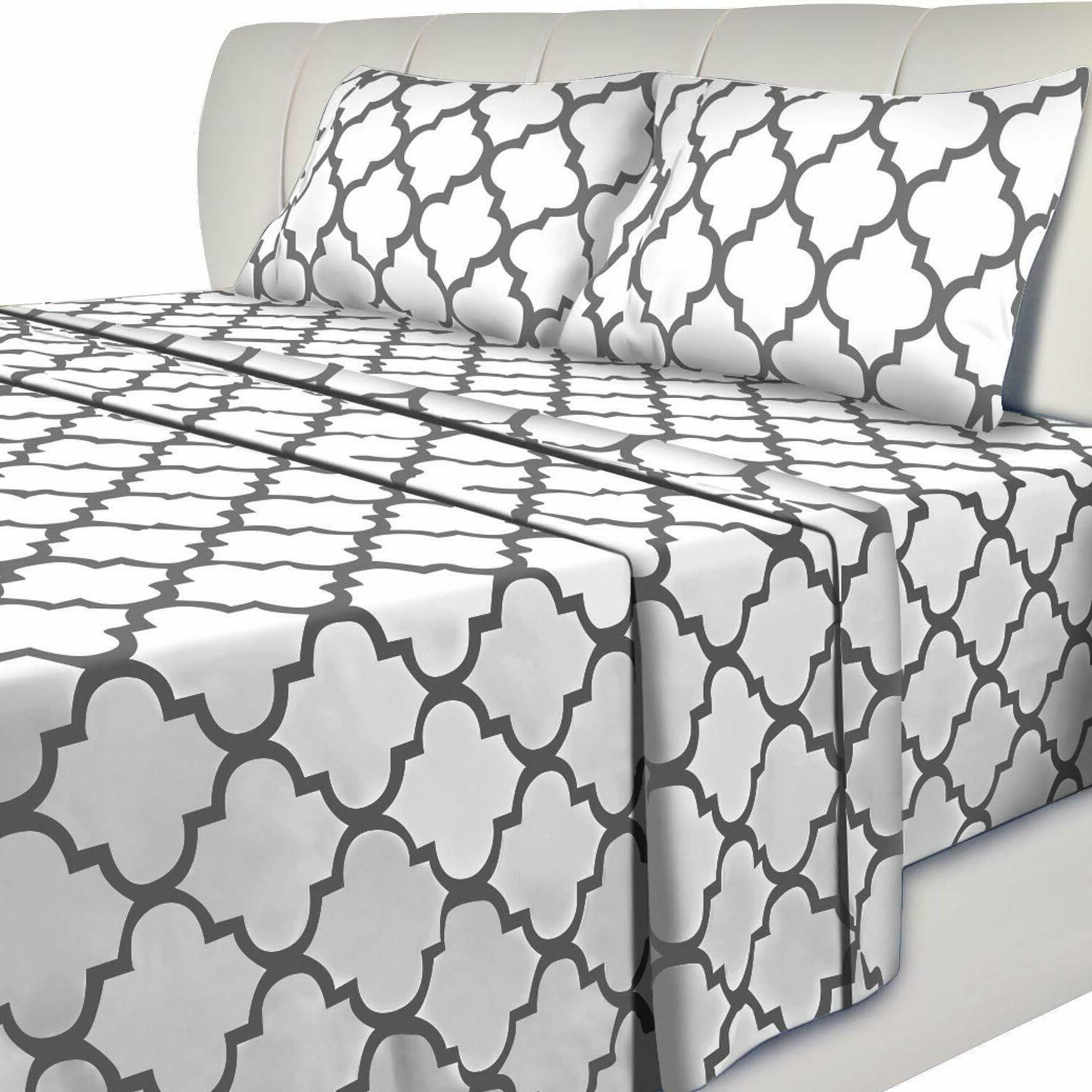 Bed Set Flat Sheet 2 Pillow Utopia