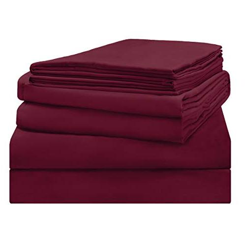 HOMEIDEAS 4 Sheet Set Brushed Microfiber Bedding - Deep Wrinkle Fade