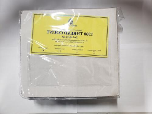 bed sheets set 4 piece 1500 thread