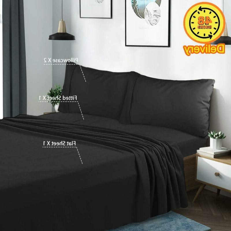 HOMEIDEAS Bed Brushed Sheets -
