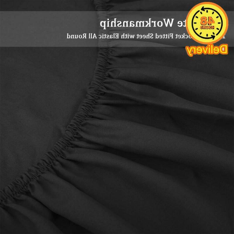 HOMEIDEAS Bed Sheets Set Brushed Microfiber Sheets Hypoallergenic