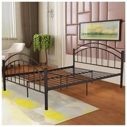 Costway Black Queen Size Metal Bed Frame Mattress Platform H