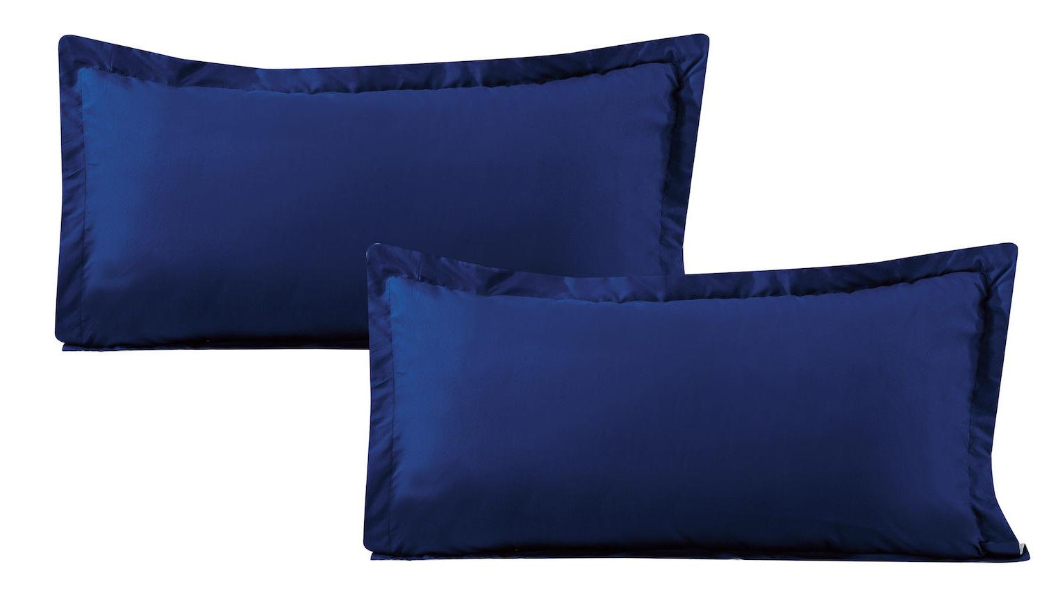 Comforter 8 pcs Soft Navy Blue and King Size