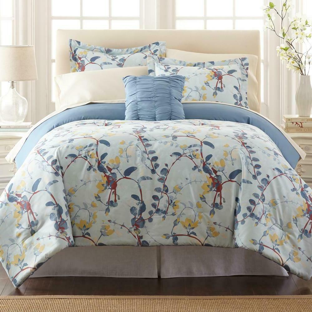 Comforter Set Bed In A Bag 8 Piece Printed Reversible With S