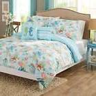 Coral Seashell and Starfish Comforter Set Full/Queen Reversi
