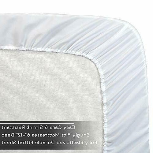 Cozy Fleece Fitted Bottom Bed White