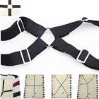 Crisscross Adjustable Bed/Fitted Sheet Straps Suspenders Gri