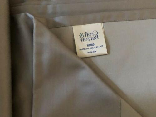 Croft & Flat Sheet- Solid Taupe