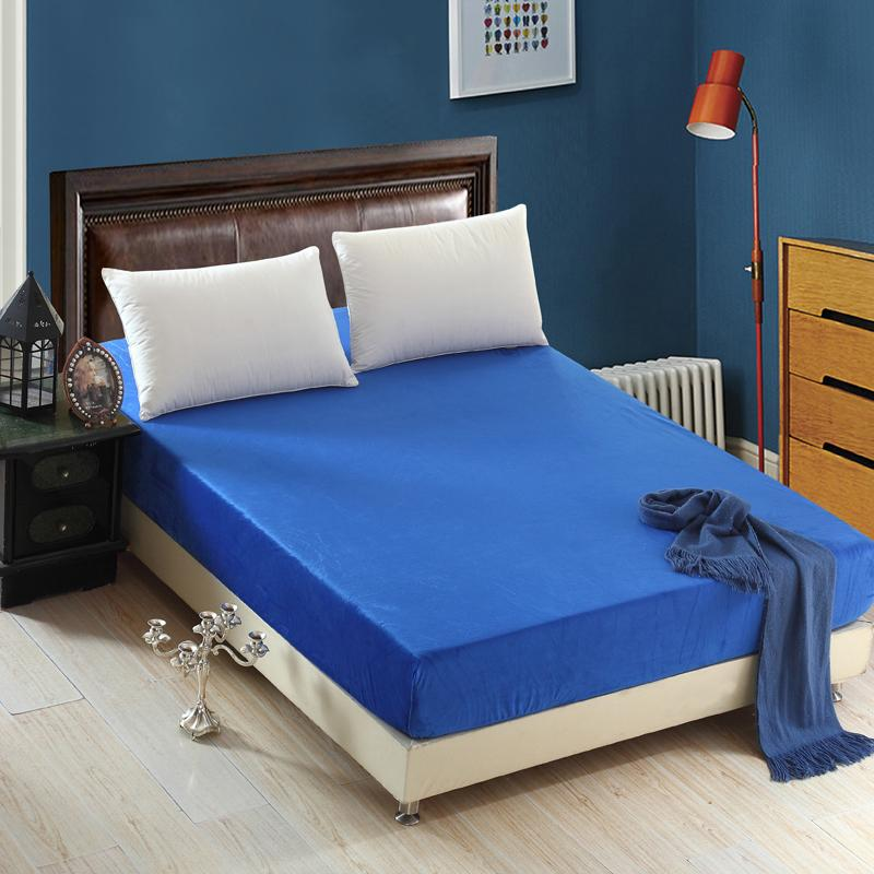 Crystal Fitted 25cm No Slipping Elastic Single Double Bedding <font><b>Royal</b></font>