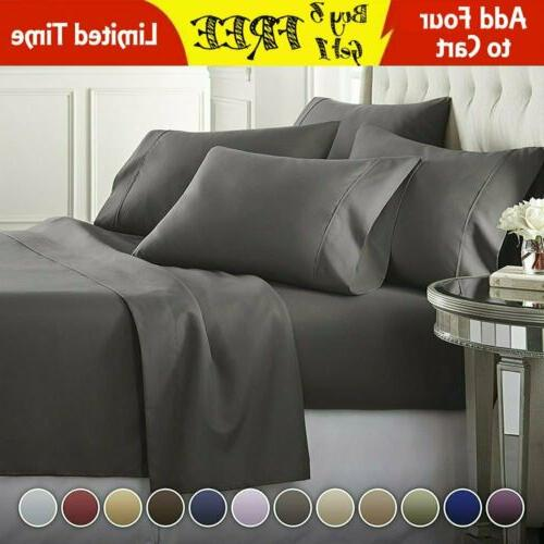 DEEP POCKET 1800 COUNT BAMBOO SERIES 6 PIECE BED SUPER SOFT