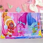 Super Soft Dreamwork Trolls Plush Fleece Throw Blanket Home