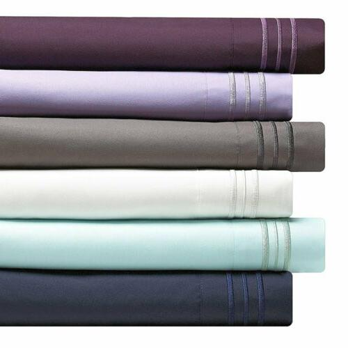 Bed Sheet Set 1800 Count Egyptian Comfort All