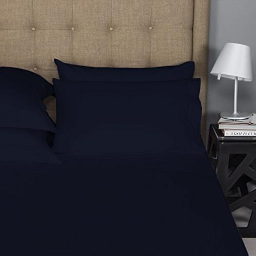 Mayfair Linen 100% Egyptian Cotton Sheets, Queen 800 Thread Count Cotton, Weave Soft Silky Feel, Fits Upto