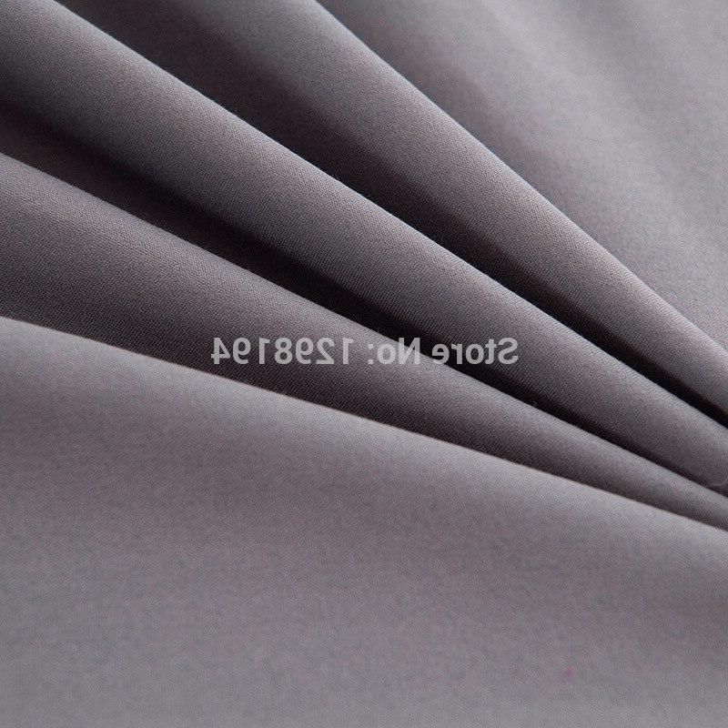 Fitted Mattress Cover <font><b>Solid</b></font> Color Linens <font><b>Sheets</b></font> Elastic Band Double Size
