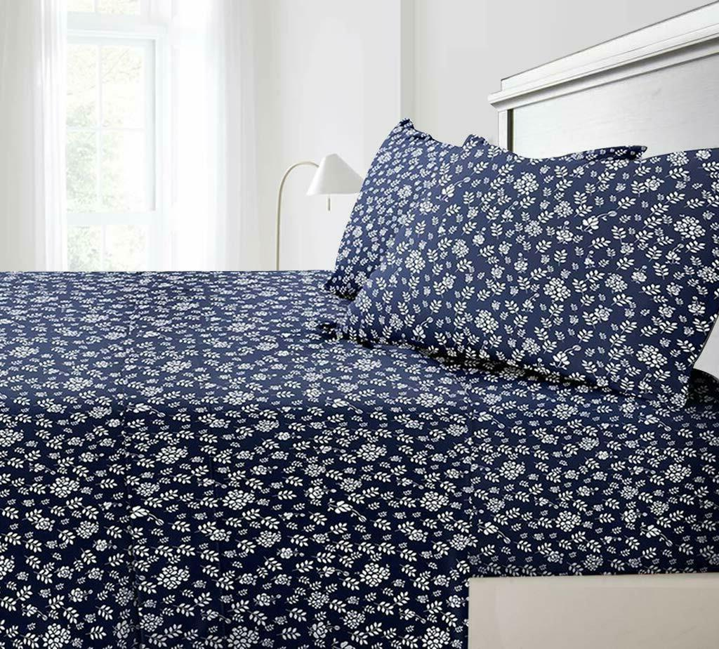 Floral Sheets 4 Piece Set 1800 Series Egyptian Comfort Deep
