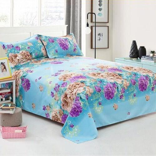 Hot Sale Floral Birds <font><b>Bed</b></font> Cotton Mattress Protector <font><b>Sheet</b></font> 1pcs Twin Full Queen