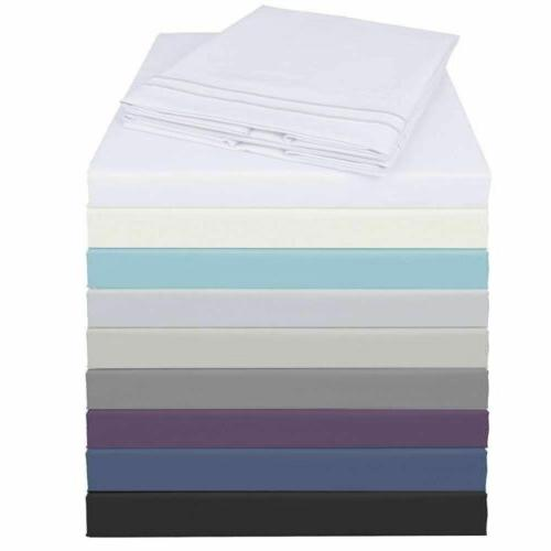 full Queen King Size Soft Sheets Comfort Count 6 Piece Deep