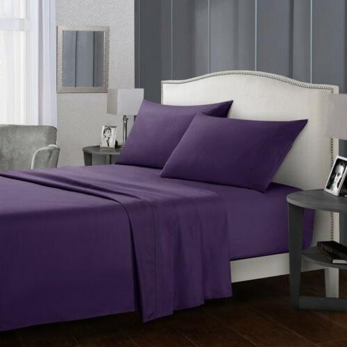 Collection 1800 Thread Count Sheet Set Egyptian Quality Deep