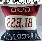 god bless america flag pillow case cover