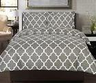 New Utopia Grey Bedding Queen Size Duvet Cover Set with 2 Pi